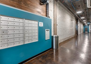 Mailbox Area at City Lofts on Laclede