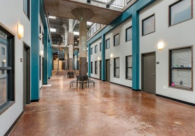 Main Corridor At City Lofts on Laclede