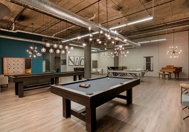 Clubroom area at City Lofts on Laclede