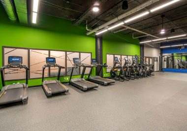 Gym area at City Lofts on Laclede
