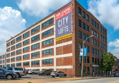 Exterior of City Lofts on Laclede